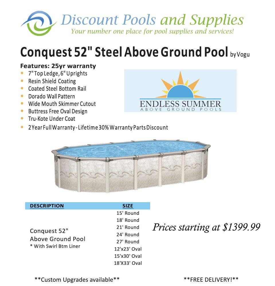 Above ground swimming pools at discount pools and supplies for Cheap above ground pool packages