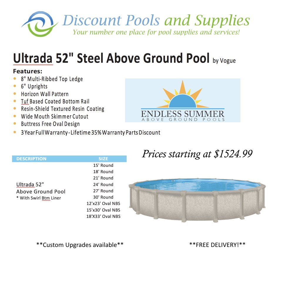 Above ground swimming pools at discount pools and supplies for Discount above ground pools